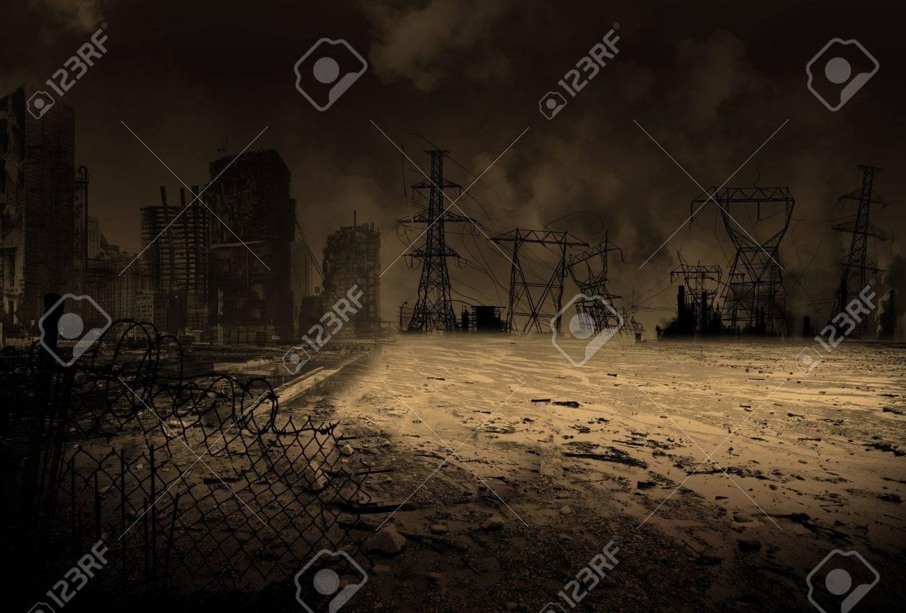 Wallpaper with a doomsday scenario - 18051697