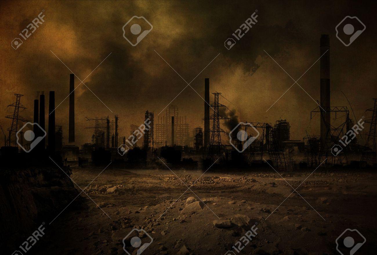 Background of a post apocalyptic scenario - 20418003