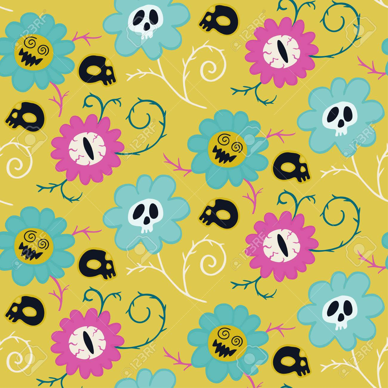 Flowers halloween pattern on dark background can be used for flowers halloween pattern on dark background can be used for wrapping paper textile mightylinksfo