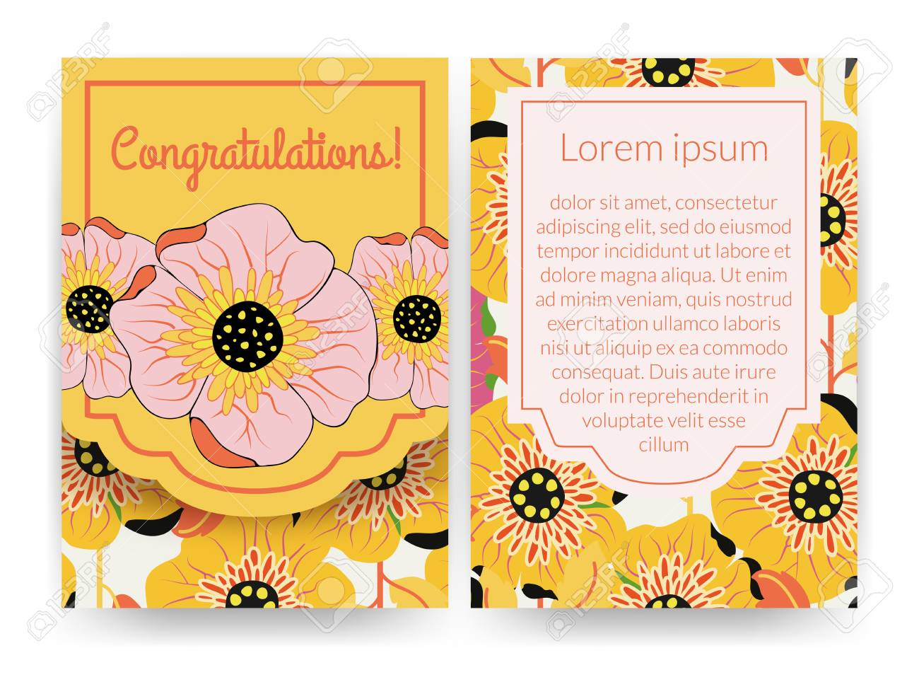 Beautiful Invitation With Flower Pattern Can Be Used For