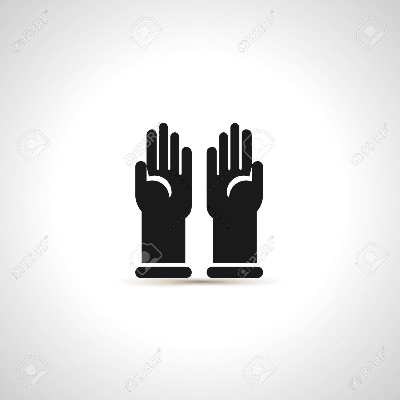 Simple black icon of pair latex protective gloves royalty free simple black icon of pair latex protective gloves stock vector 82041692 biocorpaavc
