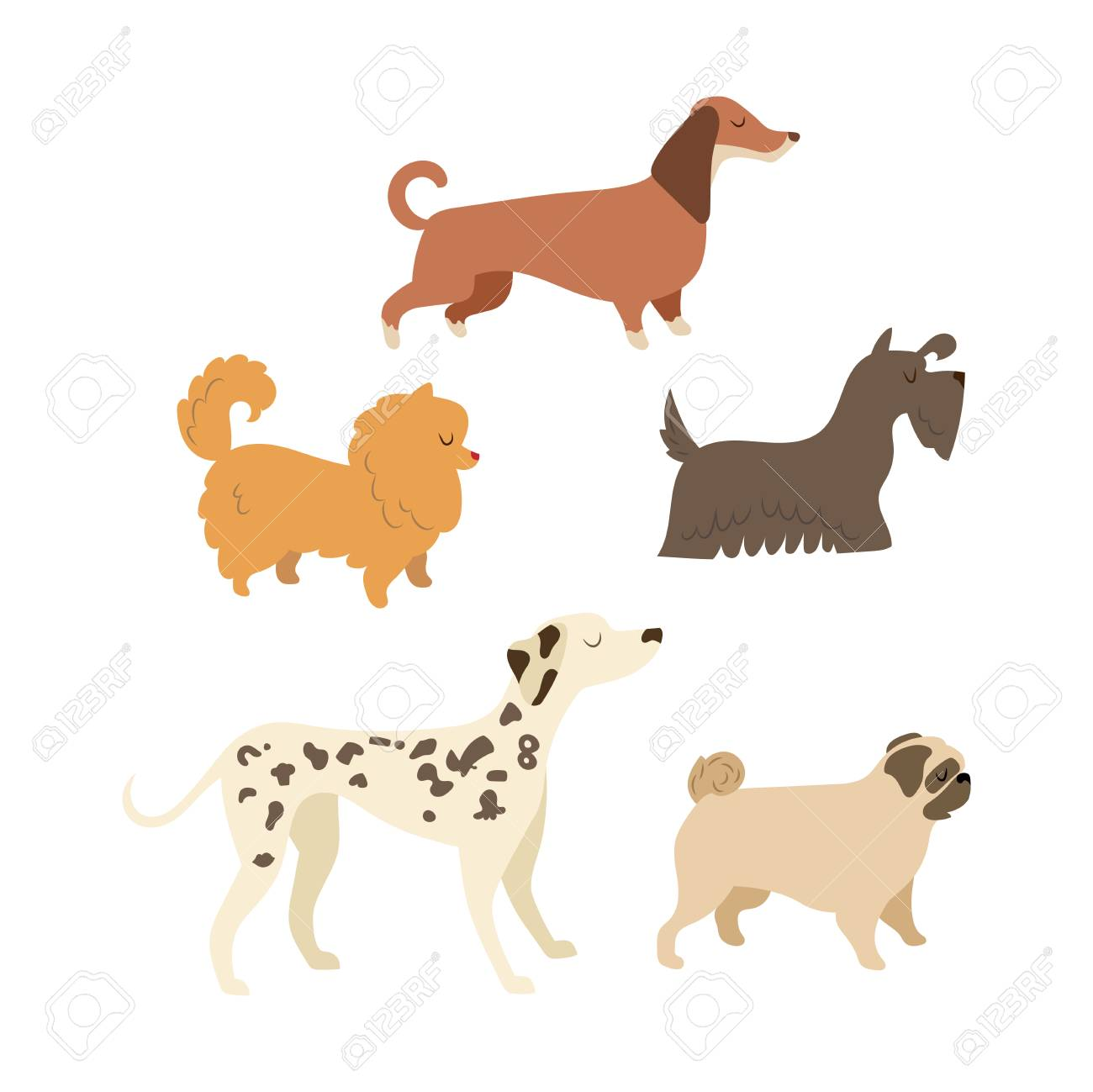 Cartoon Dog Illustration Collection 2018 Dog Symbol Royalty Free Cliparts Vectors And Stock Illustration Image 88261037
