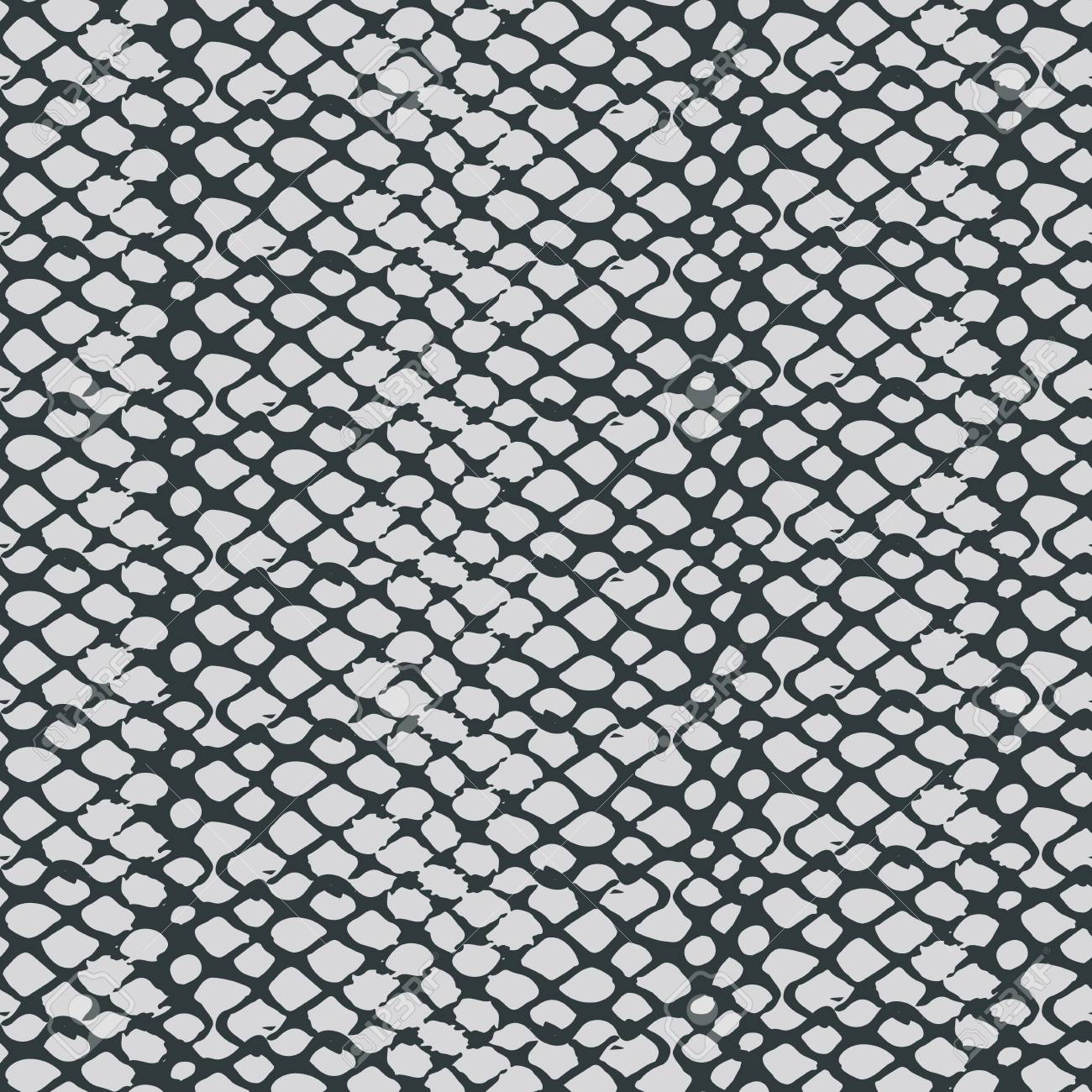 Monochrome snake skin texture seamless pattern - 104240486