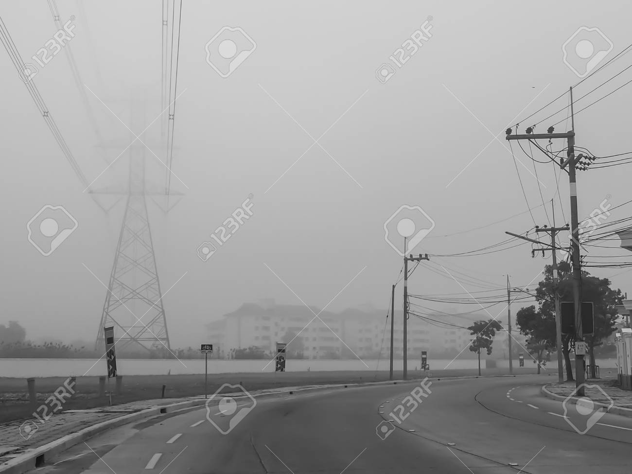 The Road To Run Away From The Cloud Of Fog Time To Escape The