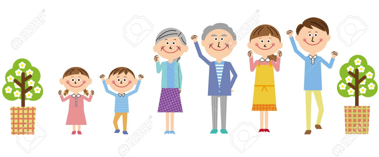 """All The Family Members Are """"motivated"""" Pose Royalty Free Cliparts ..."""