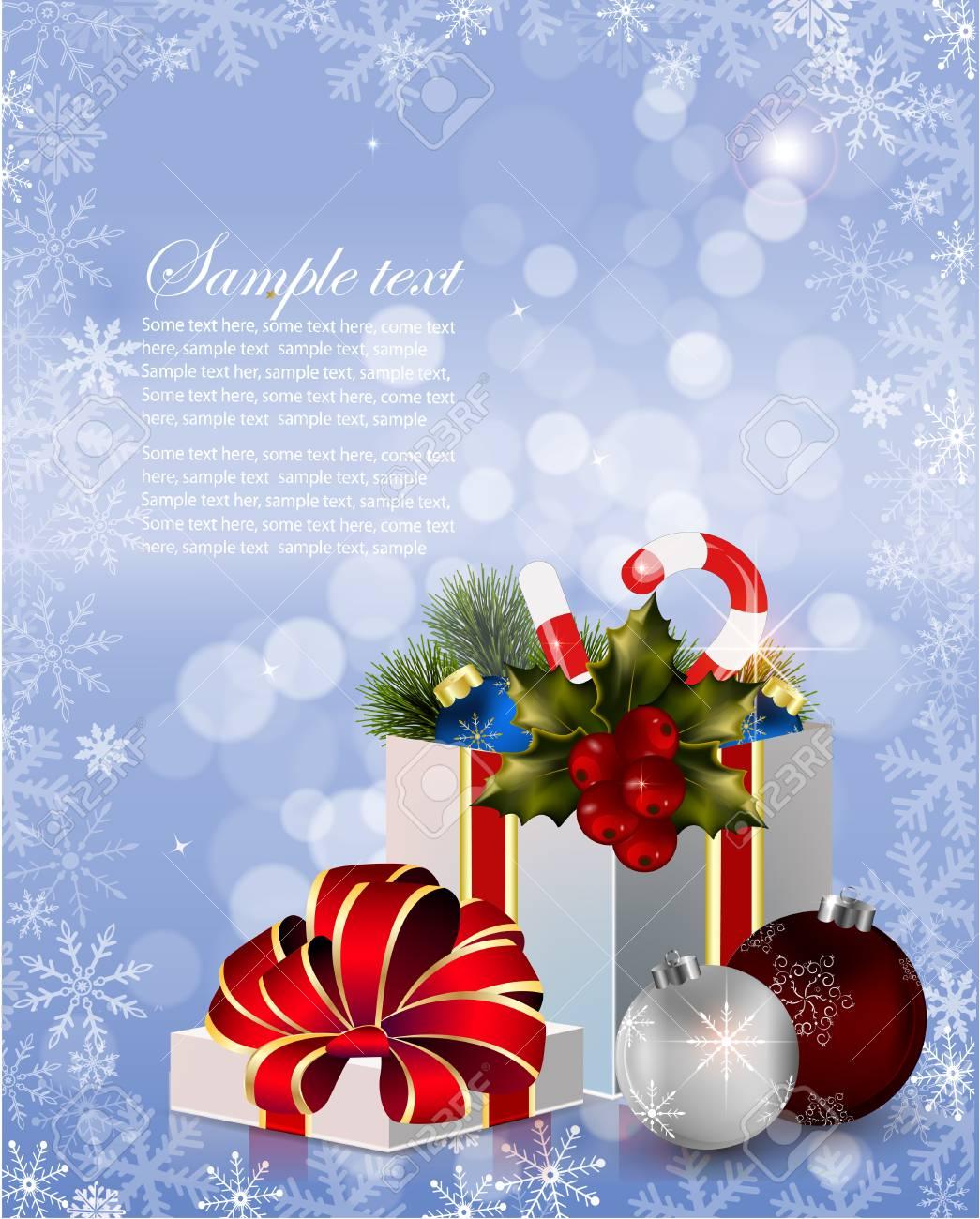 Geschenkbox Mit Schleife Und Licht. Vector Hintergrund Lizenzfrei ...