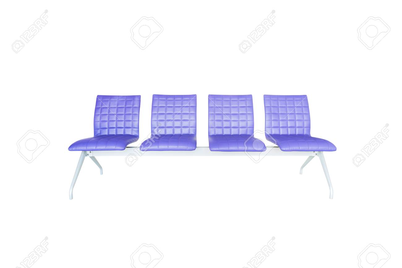 Purple Modern Chair Isolated On White Background Stock Photo   60585436
