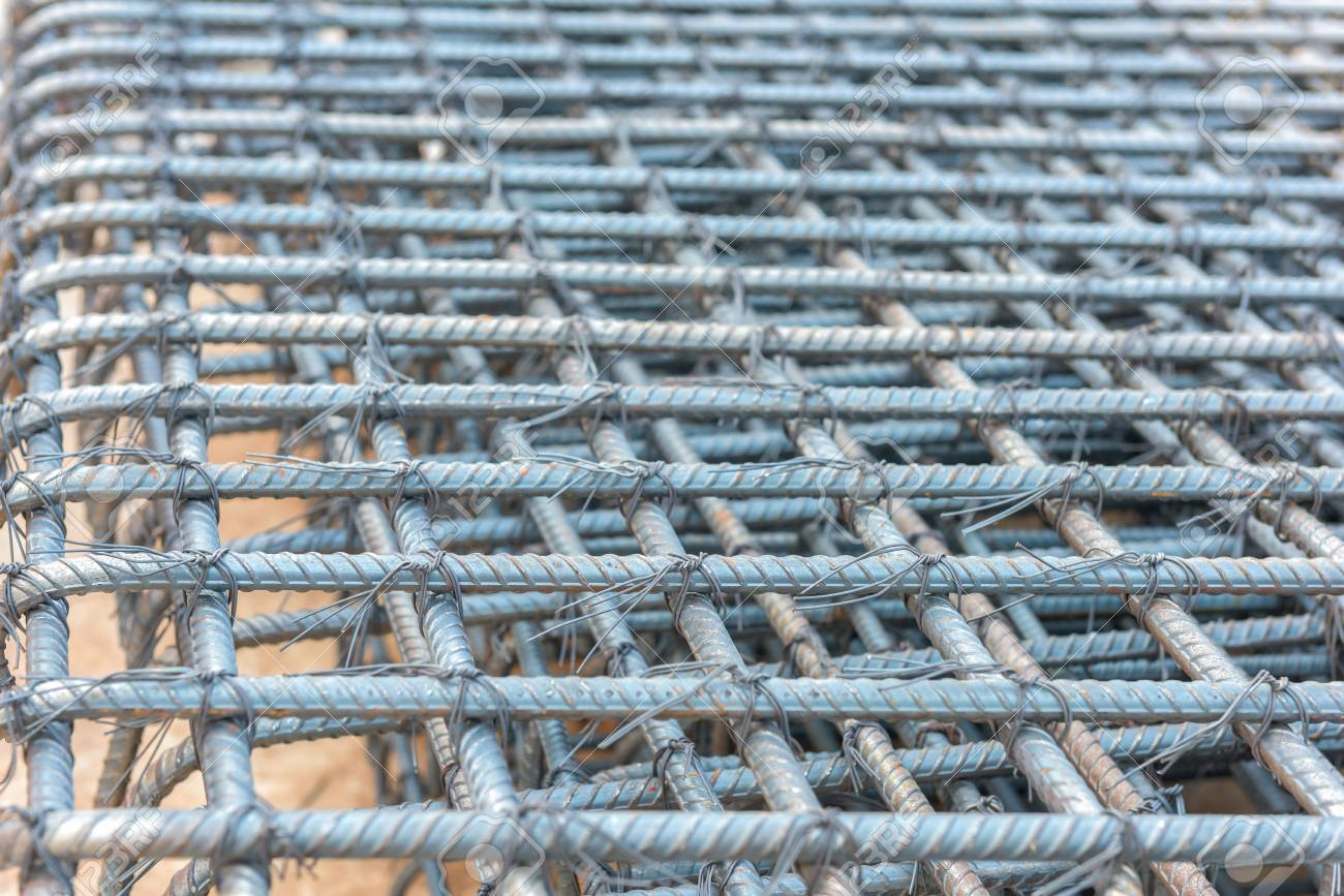 Steel Rods Bars Can Used For Reinforce Concrete Stock Photo, Picture ...
