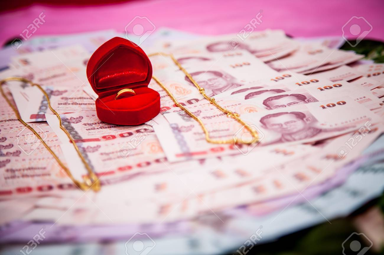 Bride Price Money In Traditional Thai Wedding Ceremony IV Stock ...