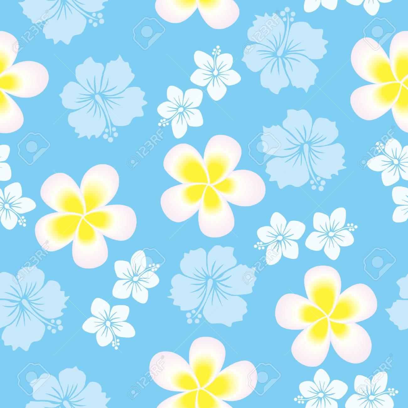 Seamless hibiscus pattern Stock Vector - 6964518