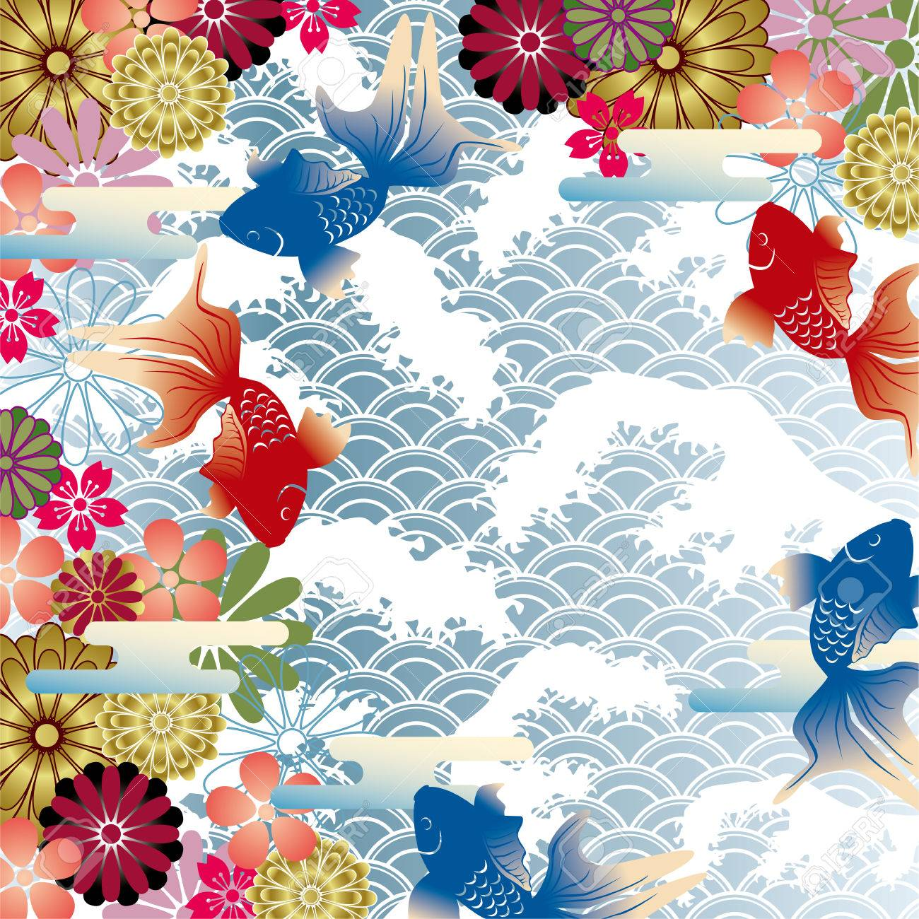 Japanese Style japanese style background royalty free cliparts, vectors, and