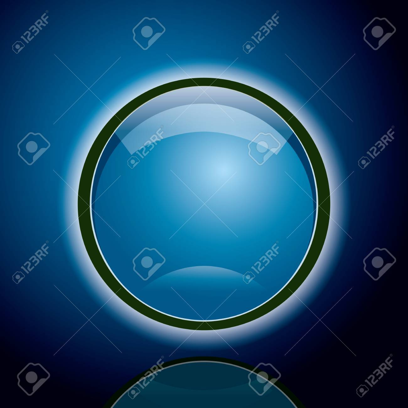 Abstract Blue Circle Background Stock Vector - 7611534