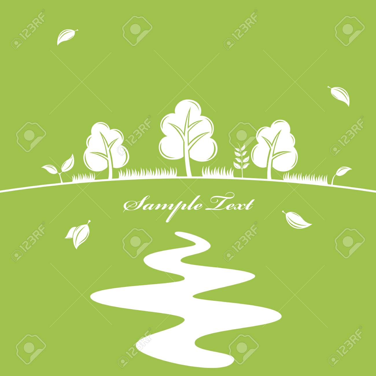 Green nature background. Stock Vector - 7693815