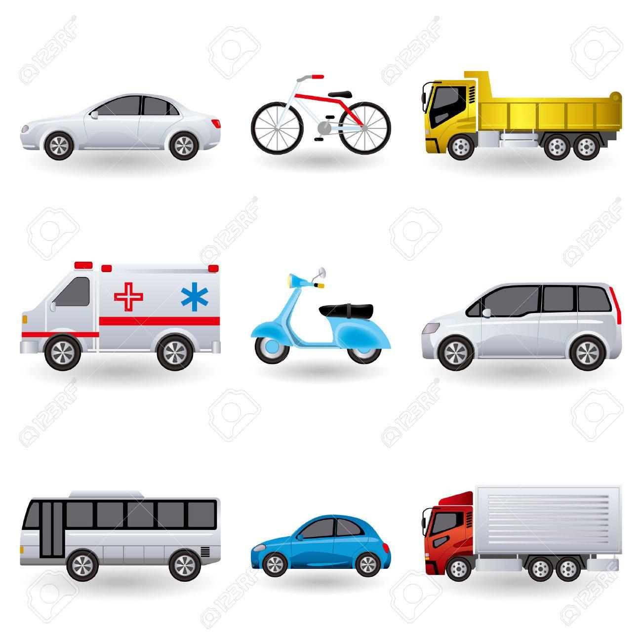 Realistic transportation icons set. Illustration Stock Vector - 7775324