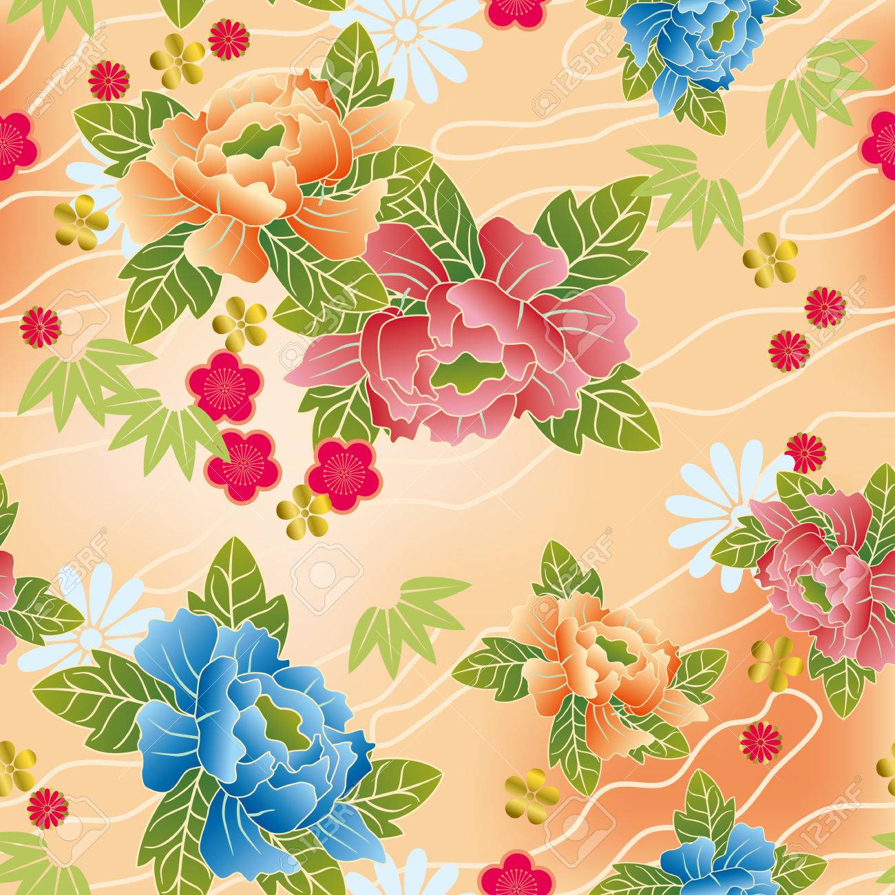 Seamless japanese traditional pattern. Illustration vector. Stock Vector - 8408593
