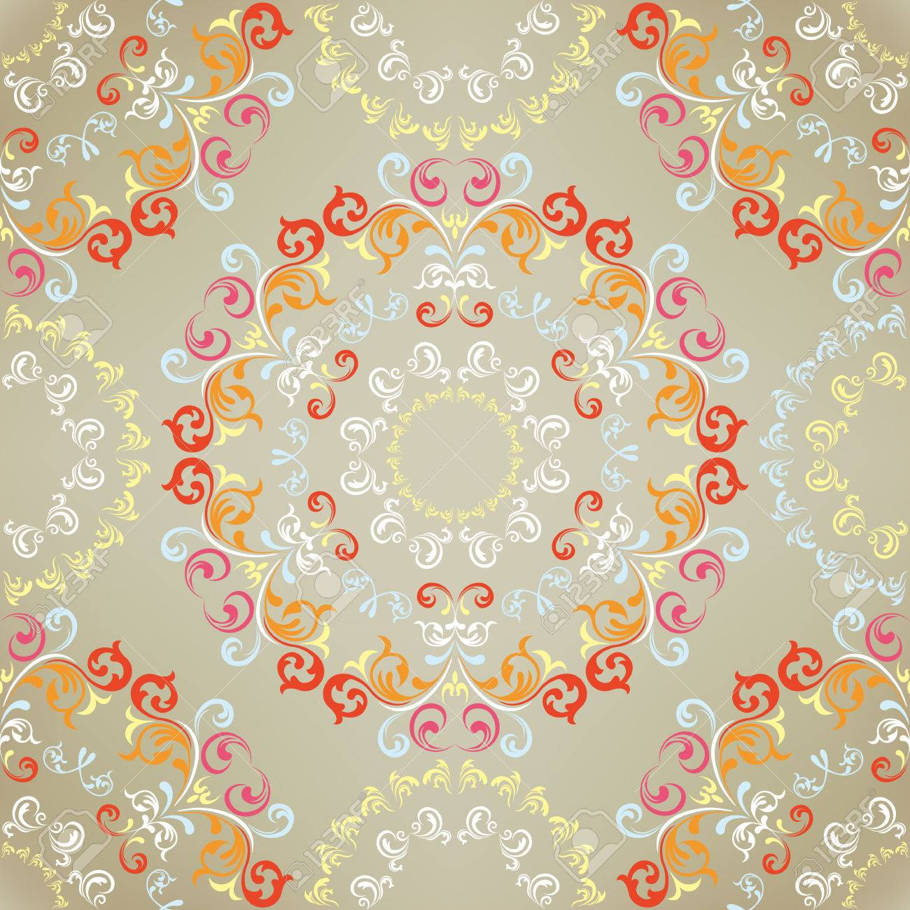 Seamless floral pattern. Illustration Stock Vector - 8698606