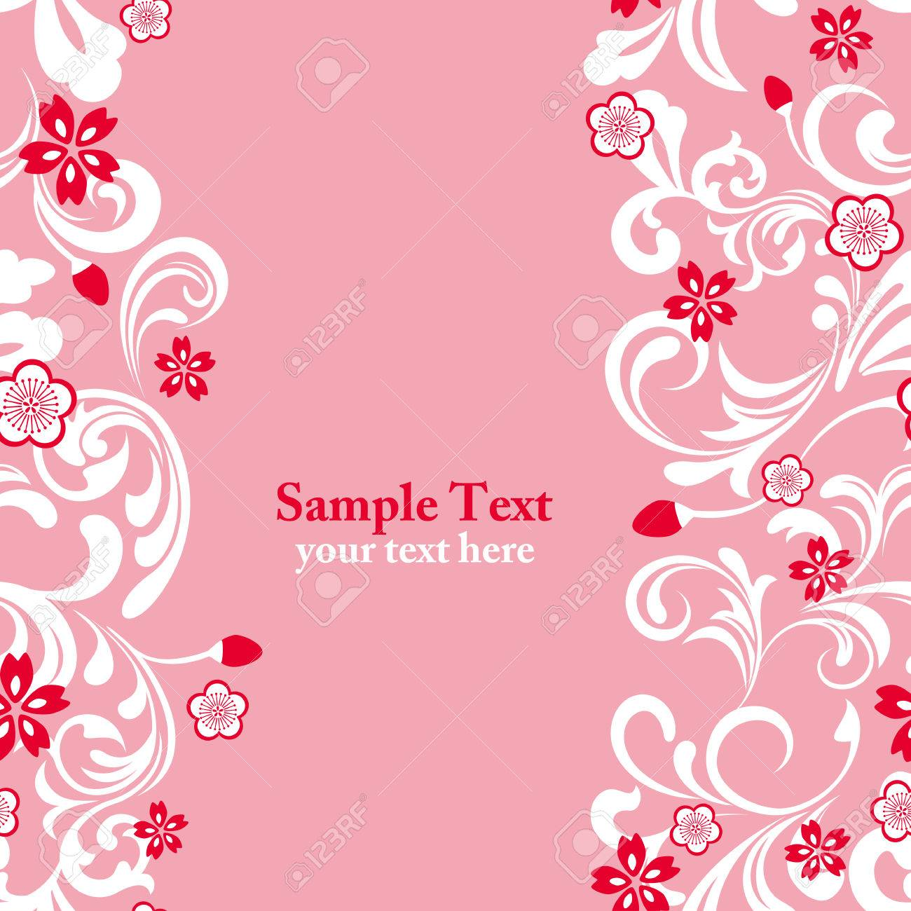 Seamless pink cherry blossom frame Stock Vector - 8812003