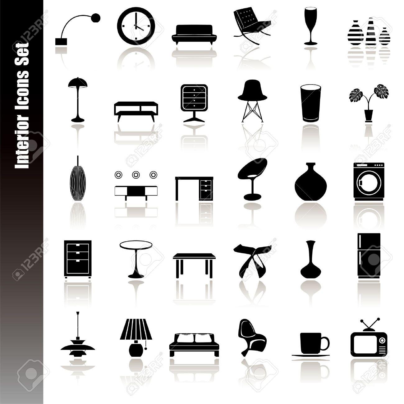 Interior Design Icons Free Download