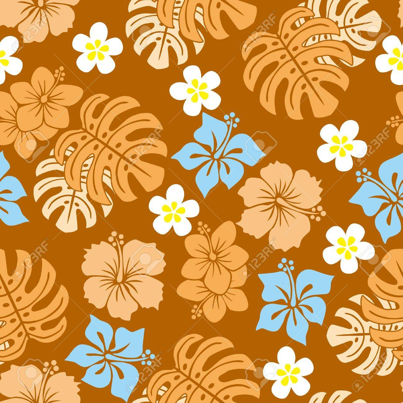 Seamless tropical pattern. Stock Vector - 9550601