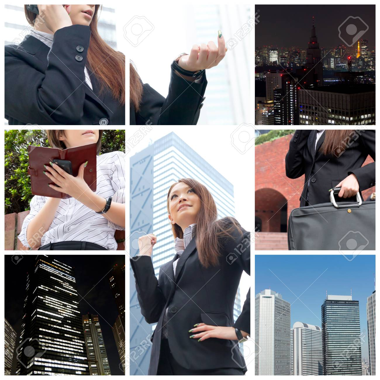 Business collage Stock Photo - 11897838