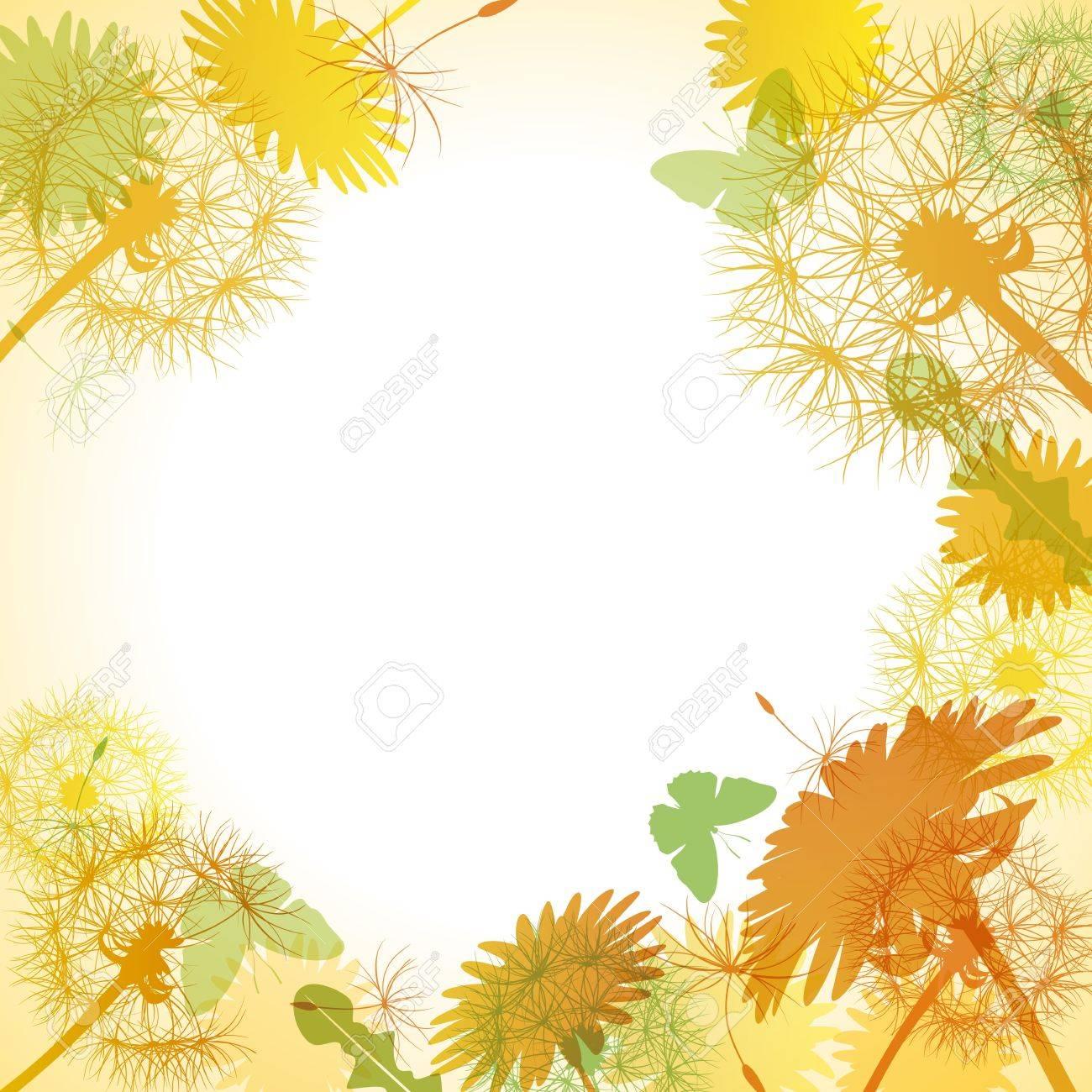 Dandelion yellow frame. Illustration vector. Stock Vector - 12296751