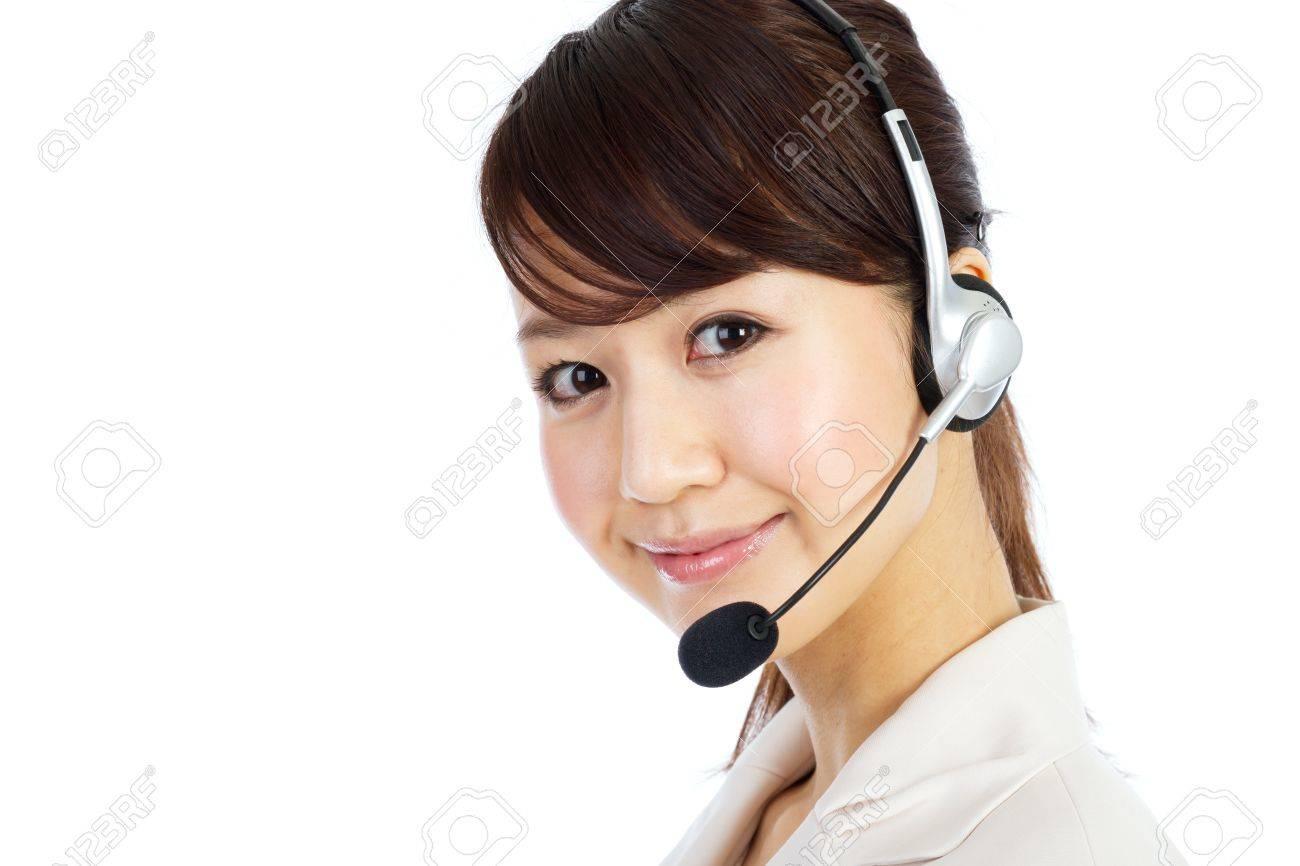 Beautiful business operator. Portrait of asian woman. Stock Photo - 12296611
