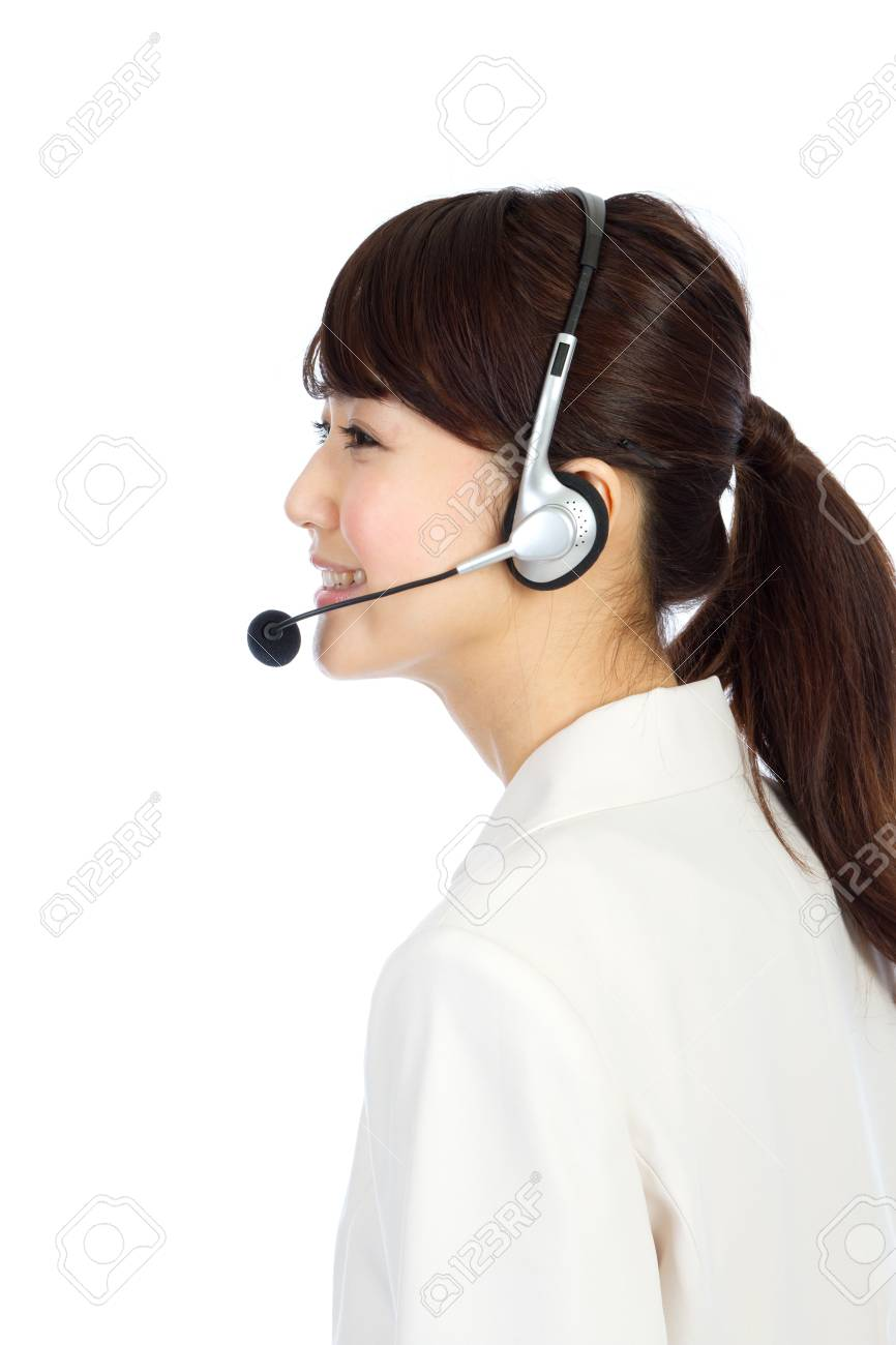 Beautiful business operator. Portrait of asian woman. Stock Photo - 12296571
