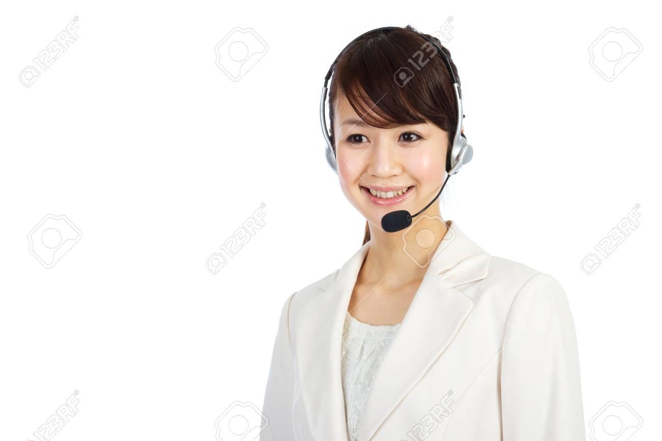Beautiful business operator. Portrait of asian woman. Stock Photo - 12296607