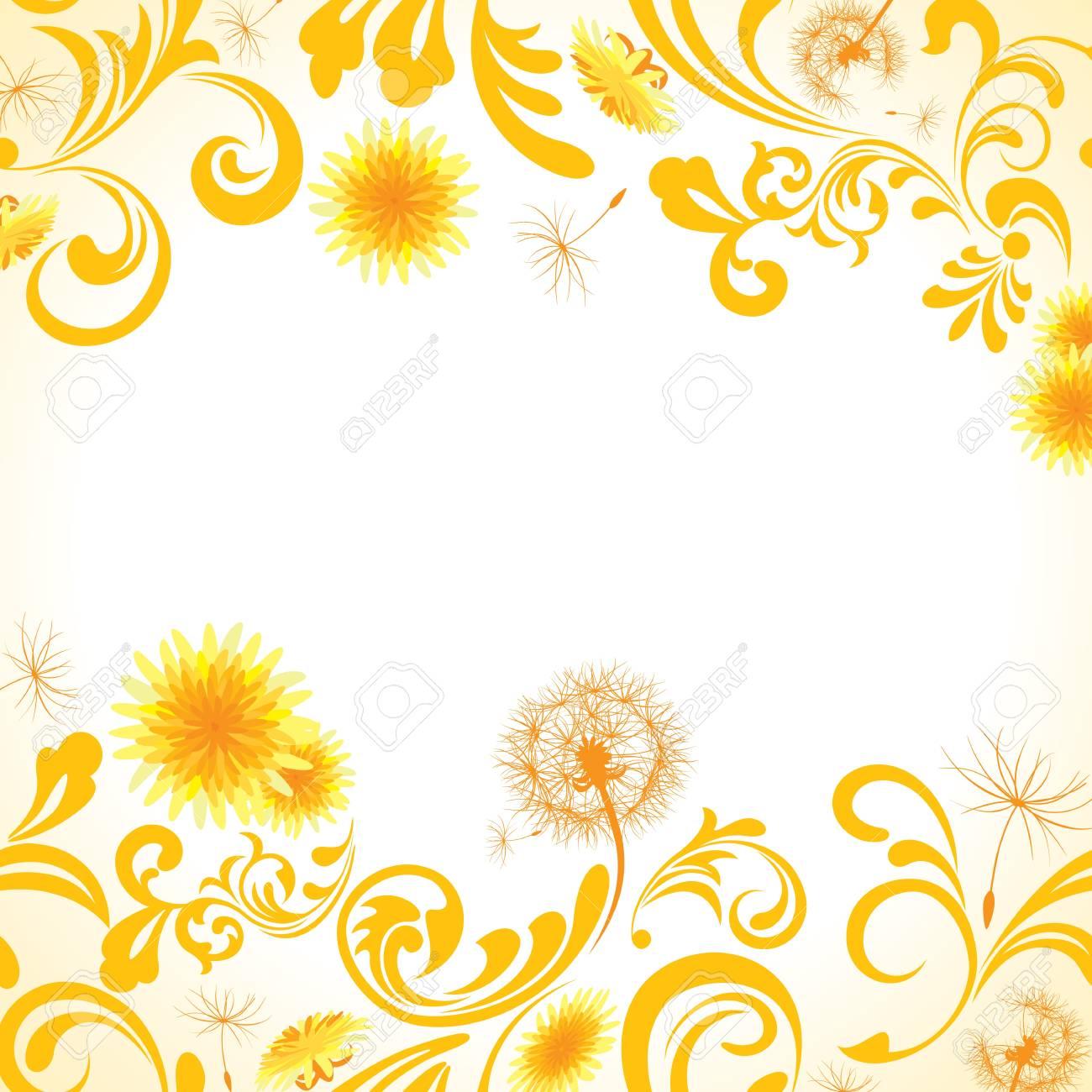 Dandelion frame  Illustration vector Stock Vector - 12681032