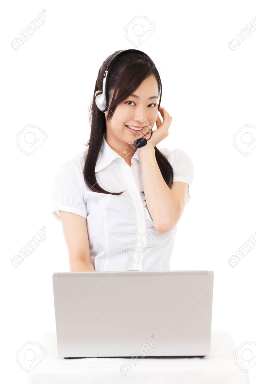 Beautiful business operator Stock Photo - 15488068