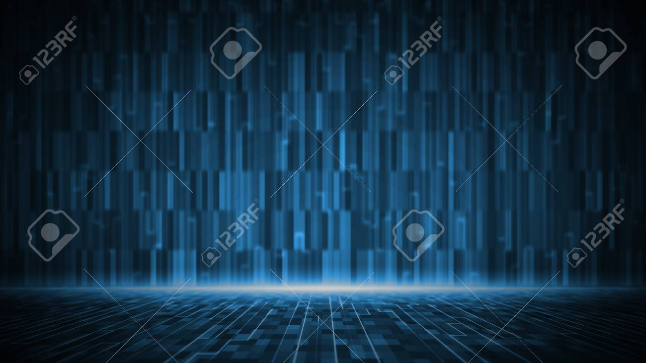Abstract digital matrix background. Futuristic big data information technology concept. Motion graphic for abstract data center. - 120618845