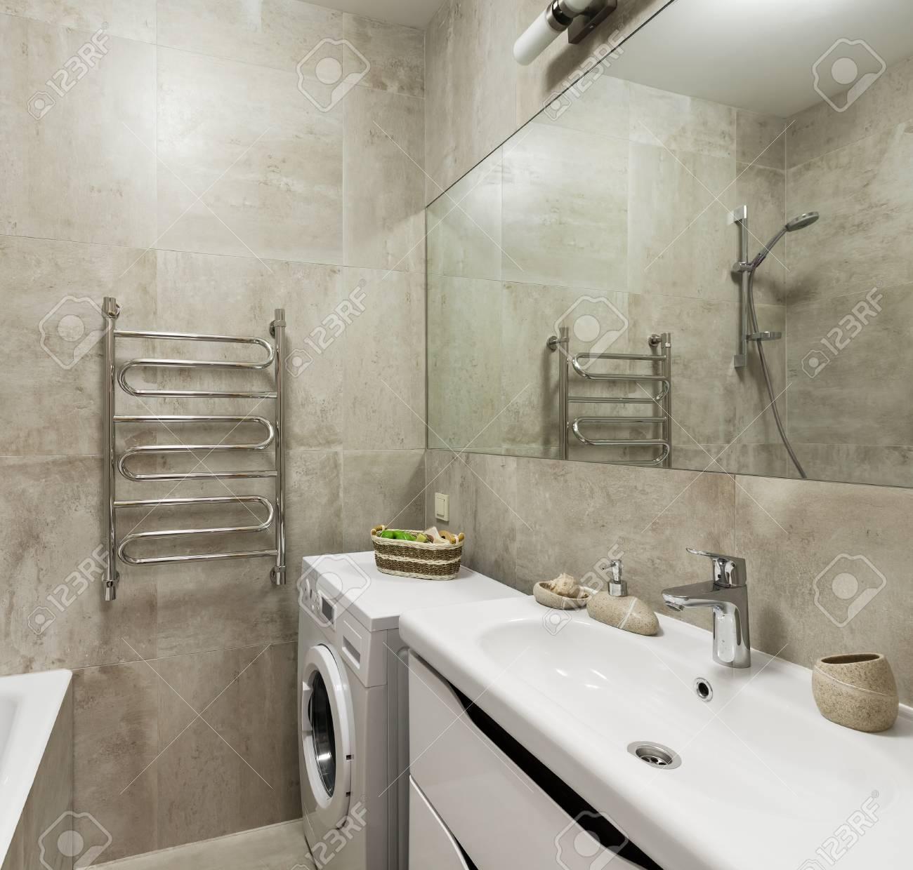 Intérieur de salle de bains moderne dans un style scandinave