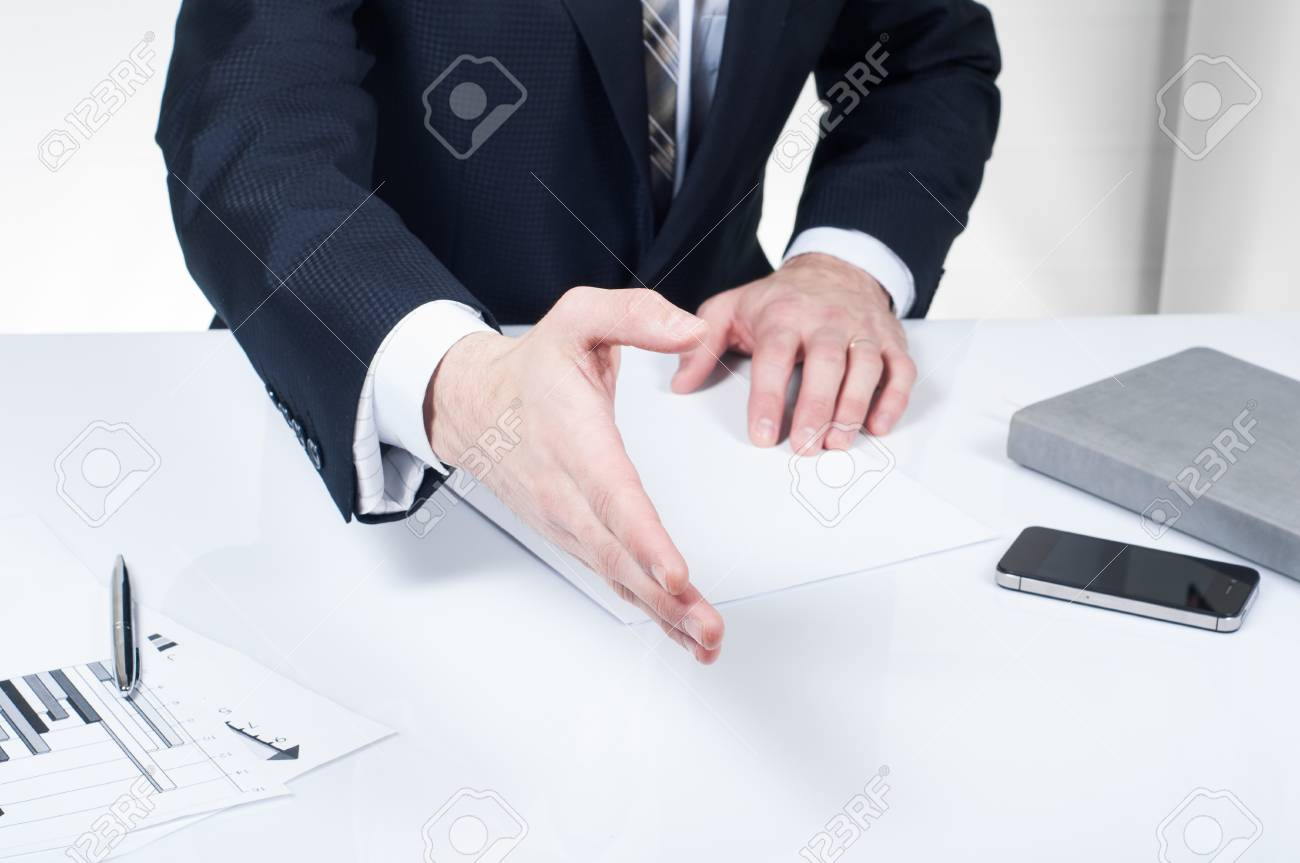 Business Man Signing Contract Making A Deal, Classic Business Stock ...
