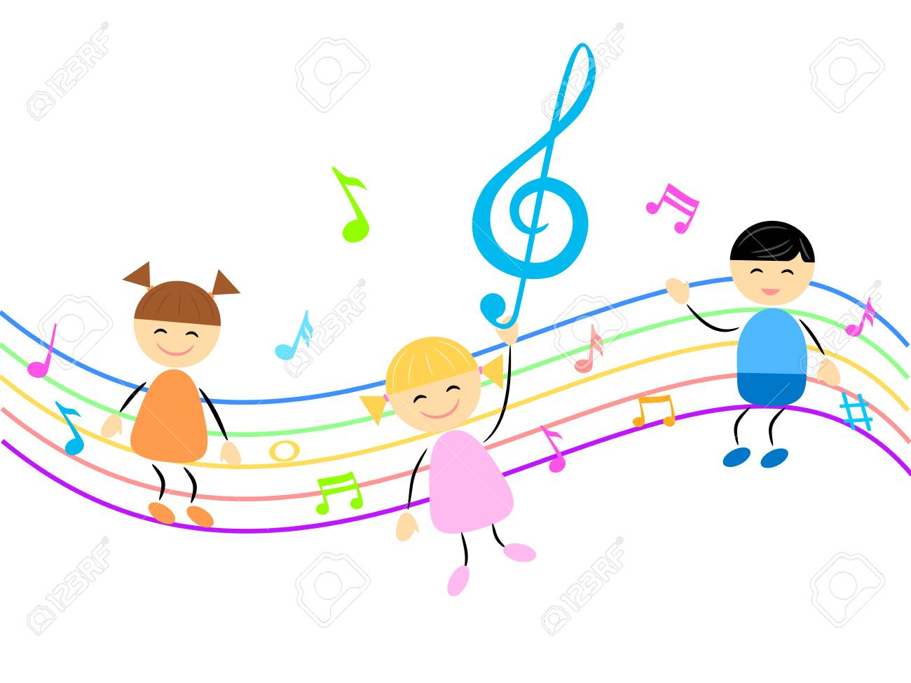 子供や音楽のイラスト ロイヤリティフリークリップアート、ベクター