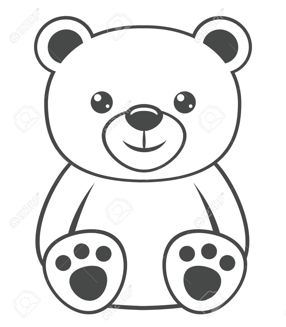 Teddy Bear In Gift Box Vector Illustration, Line Design Icon Royalty Free  Cliparts, Vectors, And Stock Illustration. Image 139347599.