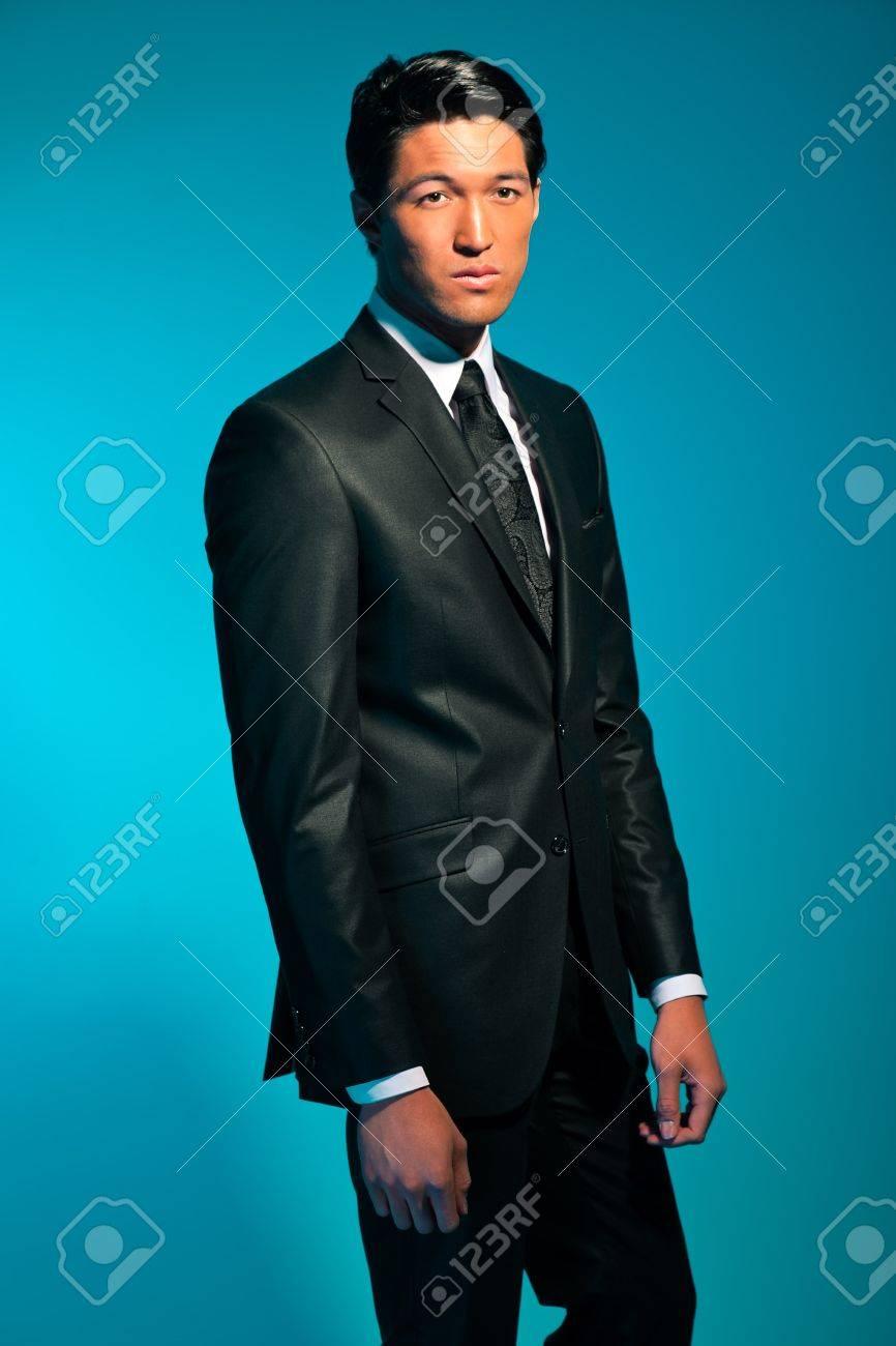 Handsome asian man in suit  Summer fashion  Studio shot Stock Photo - 17777964