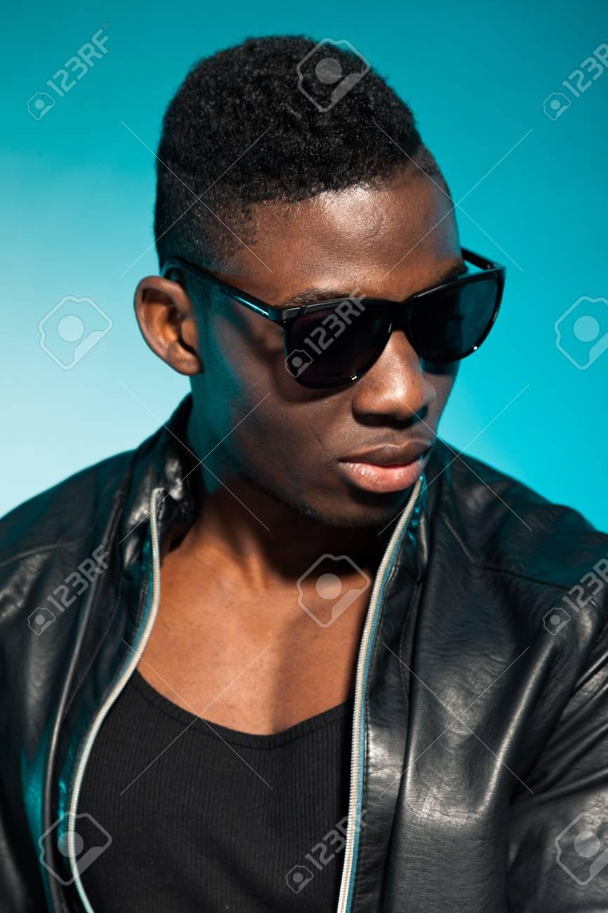 Cool urban stylish black american man. Fashion studio shot. Stock Photo - 17848004