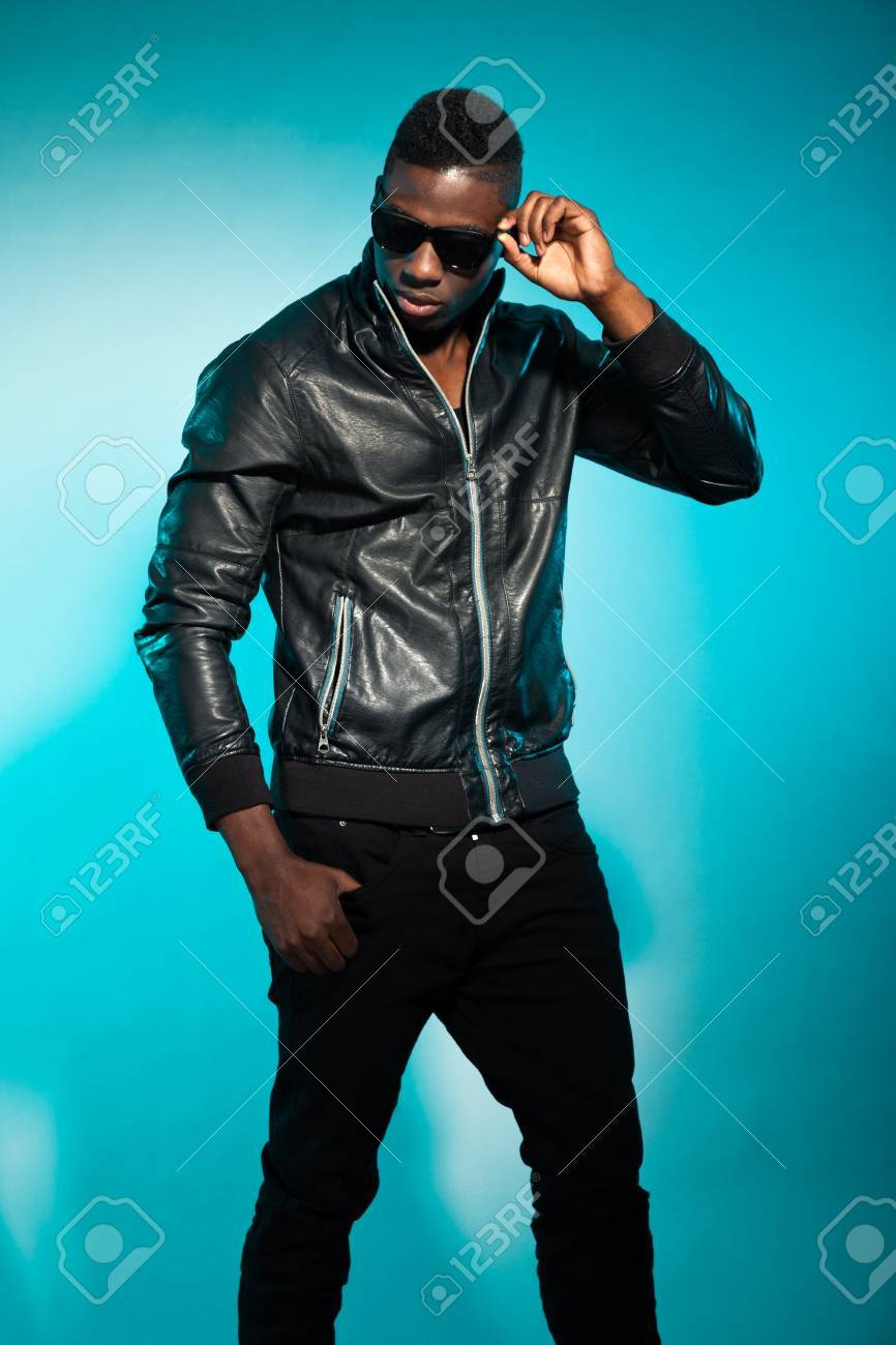 Cool urban stylish black american man. Fashion studio shot. Stock Photo - 17847996