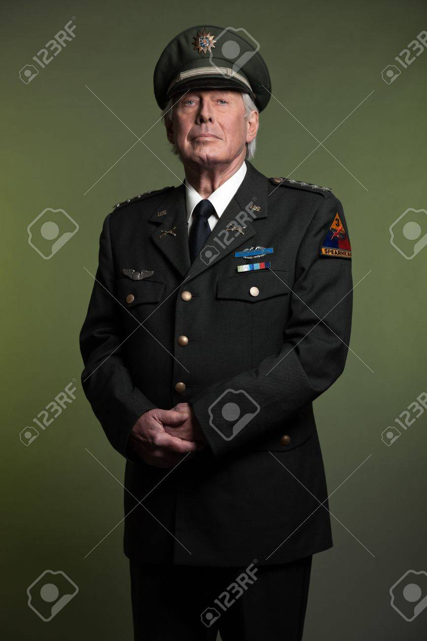 military general in uniform studio portrait stock photo picture