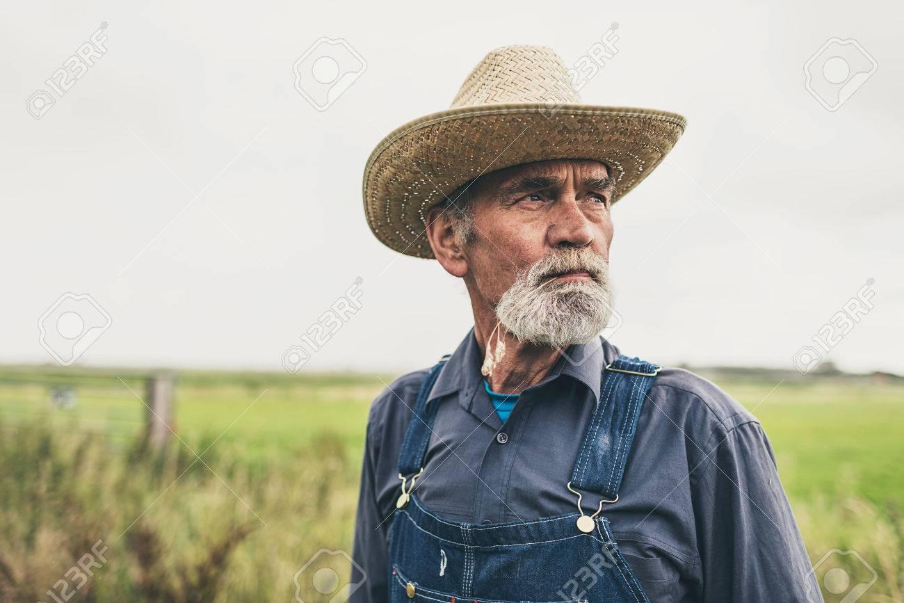 Stock Photo Of Amish Mennonite Beard Farmer Rural Indiana Suspenders