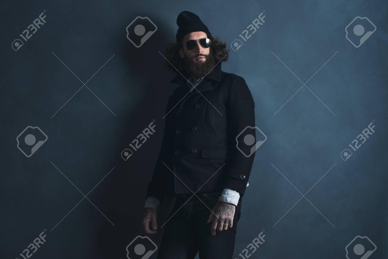 Las Gafas Años La Hombre Que Vendimia Con De Sol Barba 70 1Ju3lKTFc