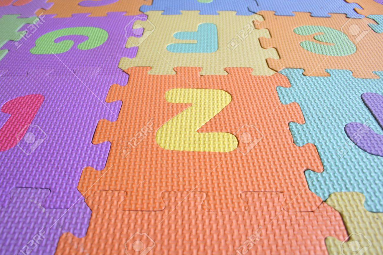 colourfull alphabetical letter foam mat stock photo 9304696