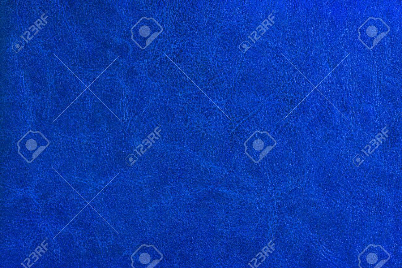 Blue leather texture. Background. - 44233090