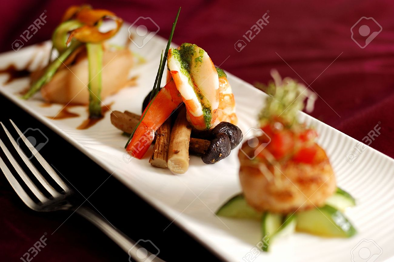 creative cuisine appetizer shrimp seafood. shrimp appetizers