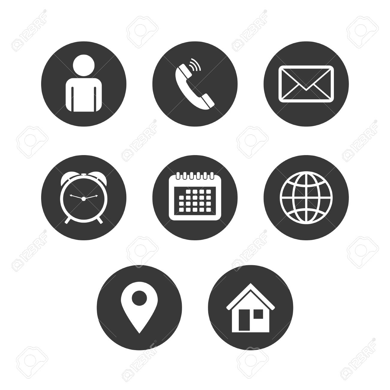 Vector of Contact Icon Set - 121334288
