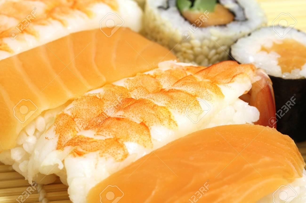 Sushi Assorted pieces - macro studio shooting Stock Photo - 16716224