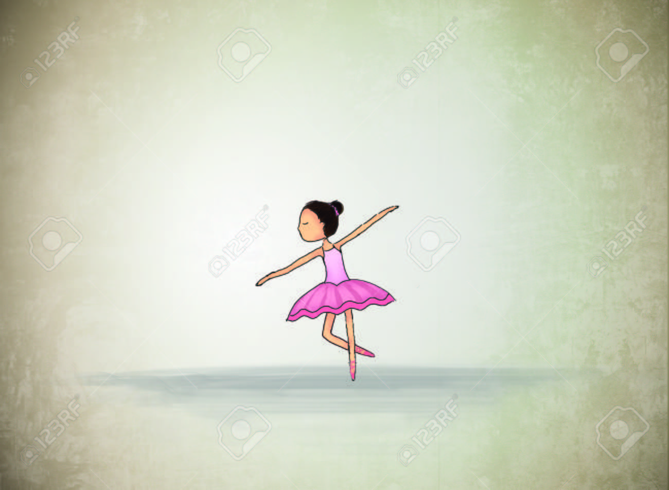 Graphic Illustration Drawing Of Lonely Ballerina Dancing Idea Stock Photo Picture And Royalty Free Image Image 85848954