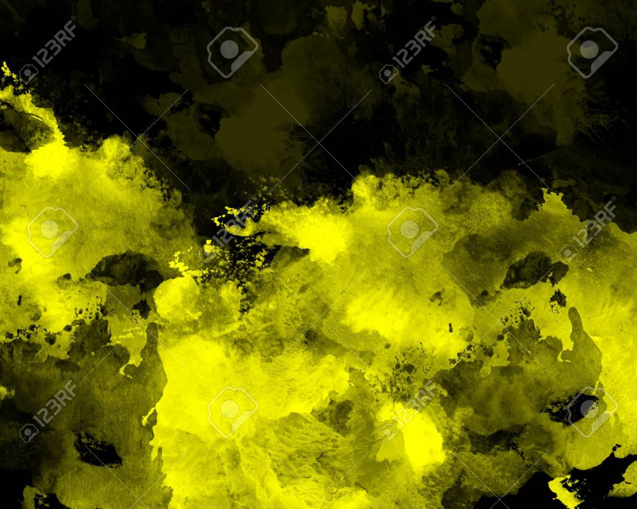 Yellow Graphic Watercolor Grunge Background. Decoration, Abstract ...