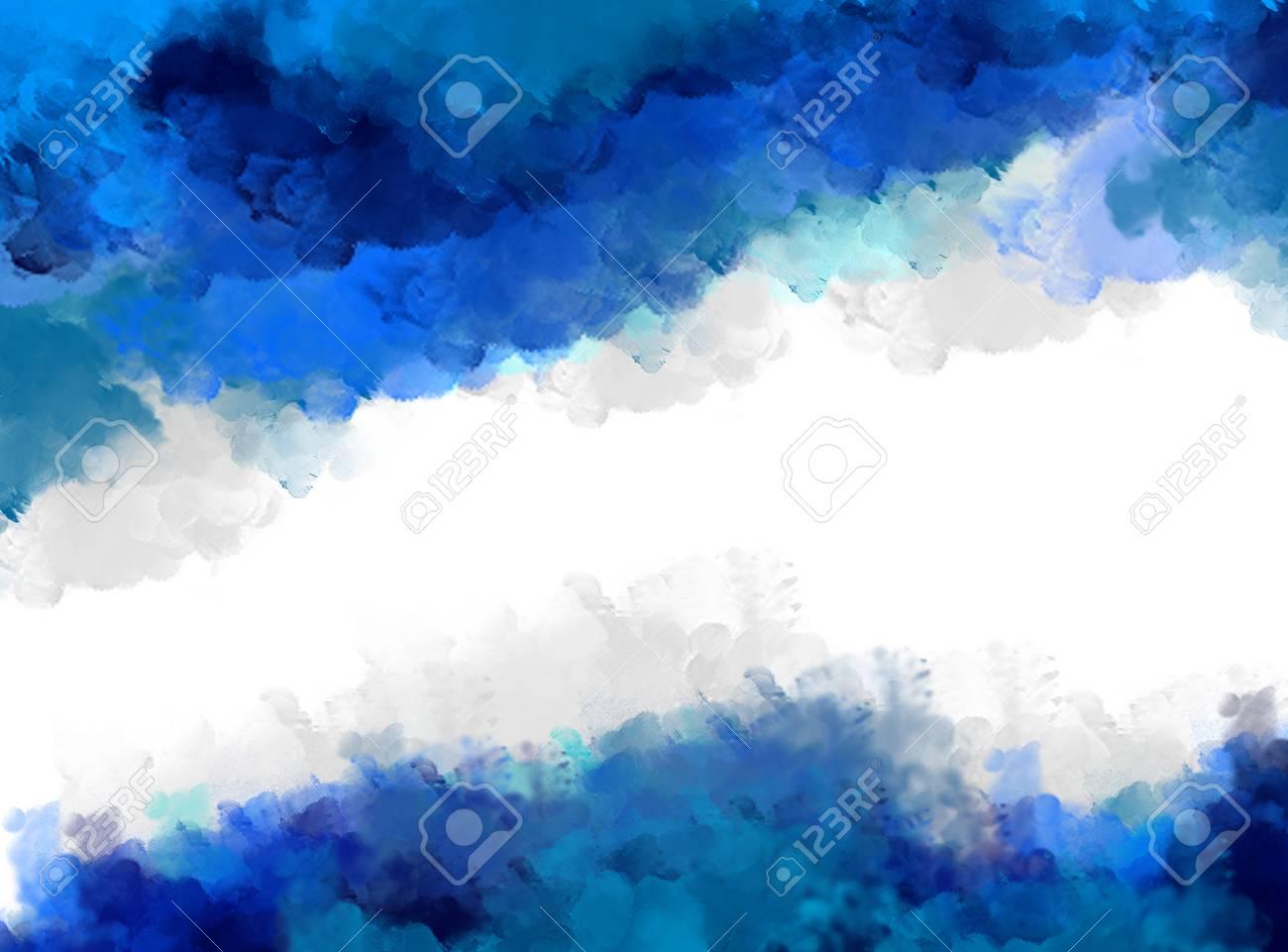水彩インク スプラッシュ ブルーの背景 テンプレート デザイン グラフィック 壁紙 空白 グランジ 装飾 汚れ 背景 の写真素材 画像素材 Image