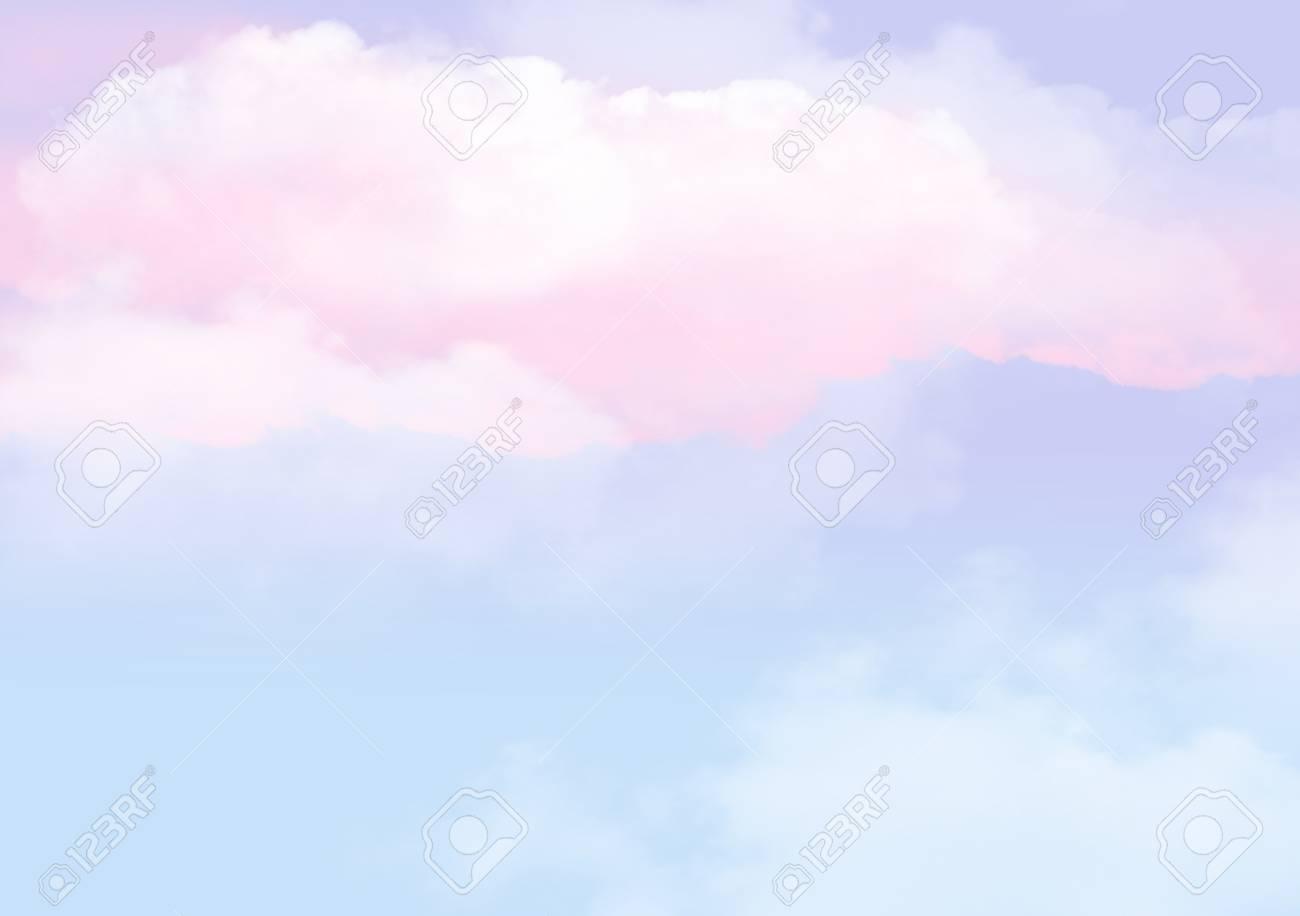 Illustration 3d Du Nuage De Nuages Graphique Avec Une Couleur